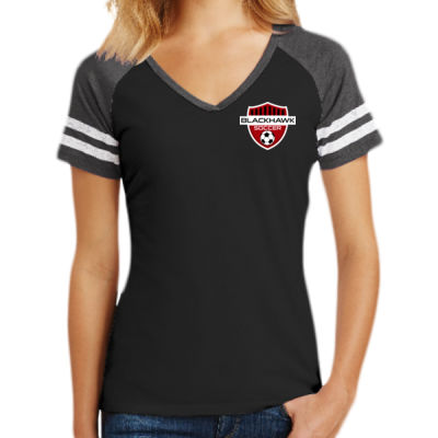 Ladies Game V Neck Tee - Screen Print Logo Thumbnail