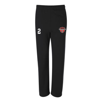 Adult Sizes - NuBlend® Open Bottom Pocketed Sweatpants - Embroidered Logo Thumbnail