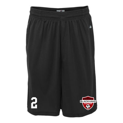 Adult Sizes - B-Core Pocketed Shorts - Embroidered Logo Thumbnail
